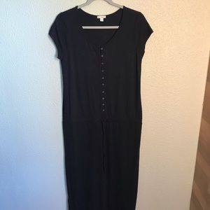 Gap Henley dress w/drawstring waist